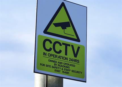 cctv-sign-post